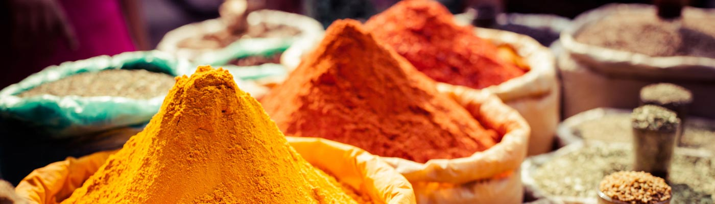 India colorful spices